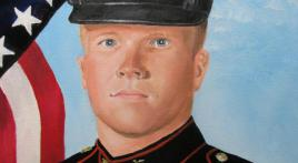 World War II veteran paints portraits of 'fallen heroes' from War on Terrorism