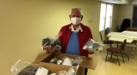 Homeless Veterans program donates 24-hour homeless kits to VA in support of OCW