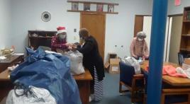 Post 294 (Powder Springs, Ga.) takes gift baskets to veterans in rehab centers