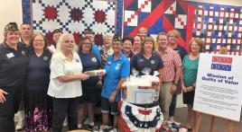 Legion post donates year's worth of fabric and batting to veteran quilt program