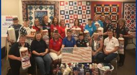 Women veterans donate to Quilts of Valor
