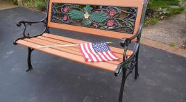 Legionnaire restores garden benches for wounded veterans