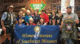 Women Veterans Post 1214 helps support wreaths for fallen heroes