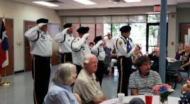 Holley-Riddle Post 21 (The Colony, Texas) honor guard takes Memorial Day ceremony to senior center