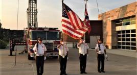NE Post 630 color guard presents at 9/11 events
