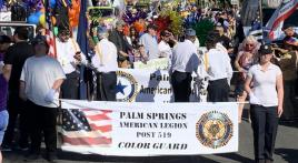 Palm Springs Post 519 Color Guard leads Palm Springs Pride Parade