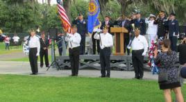American Legion Post 42 Honor Guard at Biloxi National Cemetery, 2019
