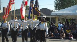 All-woman Auxiliary Color Guard