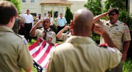 Post 131 holds flag ceremony