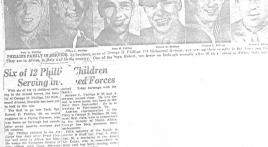 Six Phillips brothers serve in World War ll, all return
