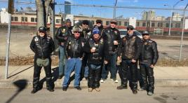 Massachusetts American Legion Riders in Boston St. Patrick's Day Parade