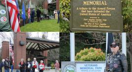 Blue Star Memorial Marker Dedicated at Veterans Memorial Park Port Angeles WASH