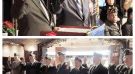 American Legion National Commander Harold Dale Barnett installs and swears in new Post 38 officers