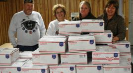 Care packages go overseas