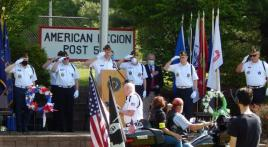 Richland Post 548 Memorial Day ceremony, video