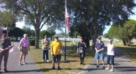 Florida Tavares Post 76 places flags at local cemetery