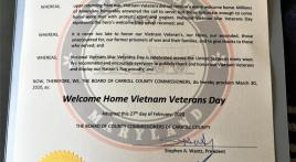 Carroll County (Md.) declares March 30 Welcome Home Vietnam Veterans Day