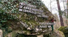 A memorial to 37 GIs killed as copter crashes in West Germany