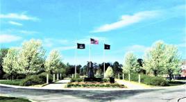 V-5/V-12 World War II Navy Memorial on Doane University campus