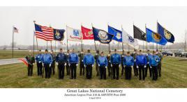 Post 216 performs Honor Guard at Great Lakes Cemetery