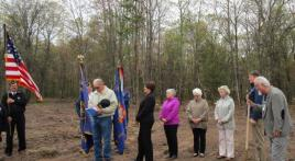 Across the Pond Veterans Park Groundbreaking Ceremony, Iron River WI, May 19, 2018