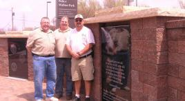 Oakdale Veteran's Memorial enhanced by hardscapes