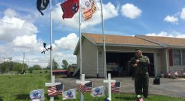 Local veteran's flag display honors troops for 15th year