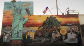 Mural honors veterans in Bakersfield, Calif.