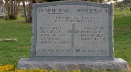 The Ones Who Didn't Return: World War II Memorial at Calvin, Okla.
