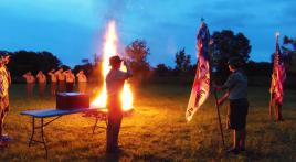 Florida Post 385, Boy Scouts retire flags