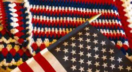 Knit, crochet, or quilt a blanket for veterans and their families in need of warmth and comfort