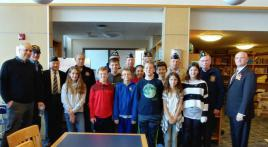 Brewster students salute veterans
