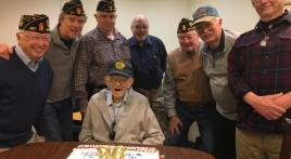 World War II veteran celebrates 96th birthday