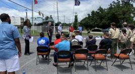 American Legion Post 205 flag retirement ceremony