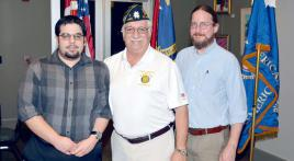 North Carolina military archivists speak to Post 543