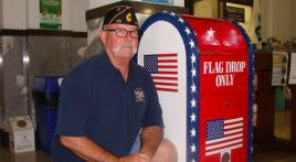 American Legion provides drop box for flags