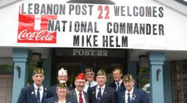 New Hampshire Post 22 welcomes Commander Helm