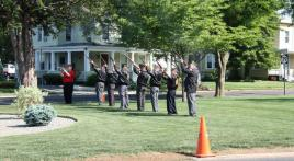 Post 54 provides 21-gun salute prior to start of Memorial Day Parade