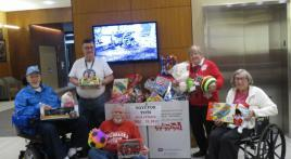 American Legion members collecting Toys for Tots