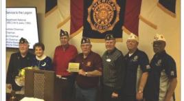 Lawrence Roy, adjutant for Hanner-Sharp American Legion Post 129, retires