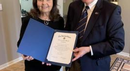 American Legion Post 178 awards honorary lifetime membership