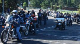 Veteran bikers rally and mountain ride