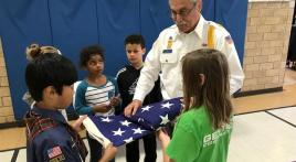 Grand Haven (Mich.) American Legion Post 28 and local elementary school engage students during annual Patriot Hall Memorial event