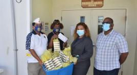 Legionnaires donate face masks to Herbert Grigg nursing staff