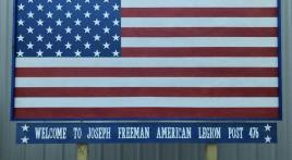 Joseph Freeman Post 476 installs new welcome sign
