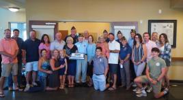 American Legionnaires present 75 Year Pin