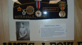 Maine Legion co-founder's cap on display