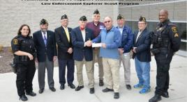 Local Law Enforcement Explorer Scout Troop Receives Donation