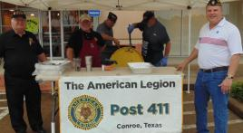 Conroe, Texas, Post 411 - free hot dog giveaway
