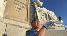 Commander of Squadron 137 (Florida) is bugler for the 100 Nights of Taps at Gettysburg